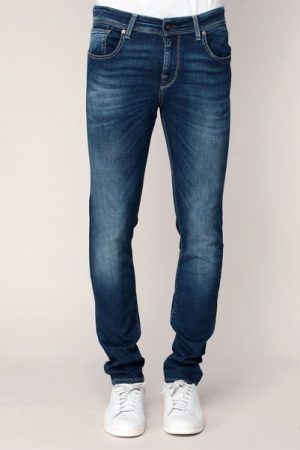 Jean slim dark blue super stretch Mario – Selected Homme