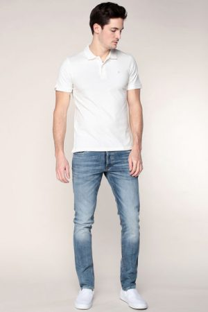 Polo écru logo brodé Perfect – Jack & Jones