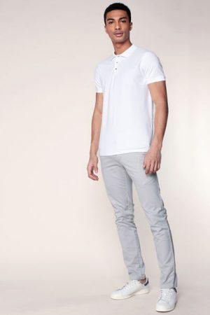 Polo blanc Damon – Selected Homme