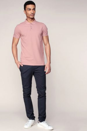 Polo vieux rose Damon – Selected Homme