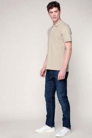 Polo beige blason brodé Haro – Selected Homme