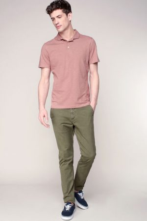 Polo fin vieux rose chiné Horg – Selected Homme