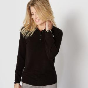 Pull col polo, toucher cachemire. ANNE WEYBURN.