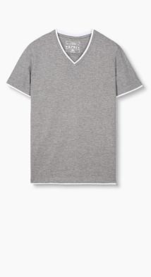 T-shirt en jersey à effet superposé  Esprit