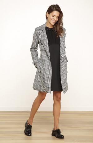 Manteau ceinture prince degalles gris chine – droits femme – naf