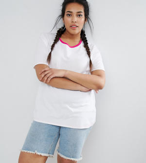 ASOS CURVE – T-shirt à liserés – Multi