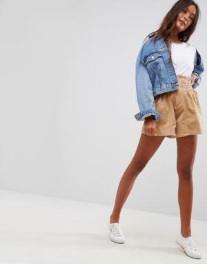 ASOS – Jupe culotte taille haute style corset – Noir