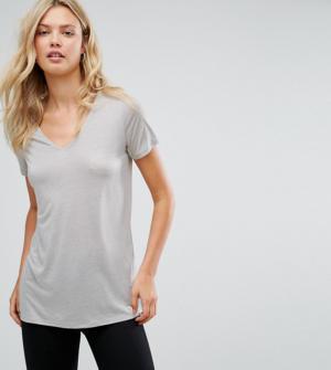 ASOS TALL – T-shirt léger col V – Gris