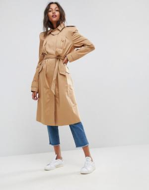 ASOS – Trench à épaules ultra tendance – Taupe