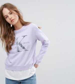 Calvin Klein Jeans – Sweat à manches longues – Violet