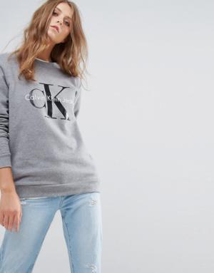 Calvin Klein Jeans – Sweat griffé – Gris