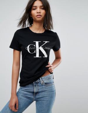 Calvin Klein – T-shirt avec logo – Noir