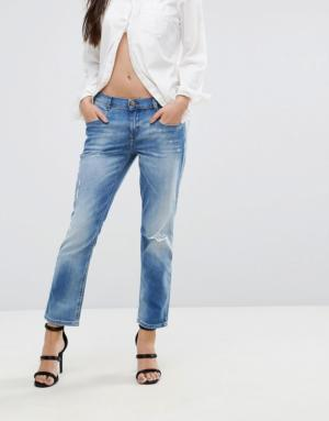 Diesel – Belthy – Jean taille basse coupe droite courte – Bleu