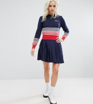 8c03924ce3d Fila Petite – Mini-jupe plissée avec logo – Navy