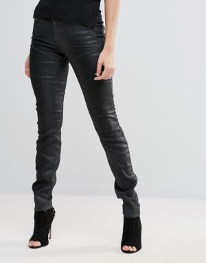G-Star – 5620 Slander – Jean skinny super stretch à taille haute – Noir