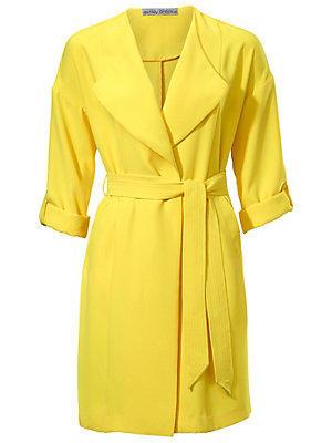 Manteau court femme Ashley Brooke jaune