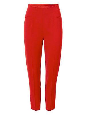 Pantacourt classique à poches pour femme, taille haute femme Ashley Brooke rouge