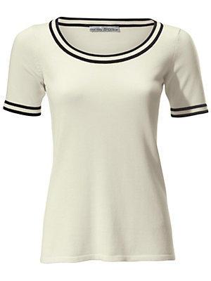 Pull-over en tricot fin femme Ashley Brooke blanc
