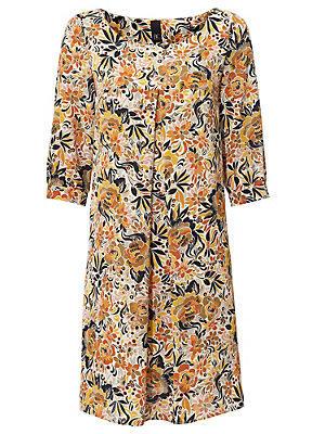 Robe droite à motifs fleuris et manches 3/4 femme B.C. Best Connections multicolore