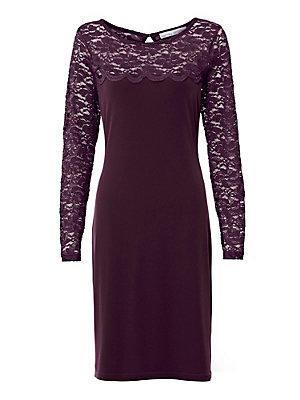 Robe en dentelle femme Ashley Brooke violet