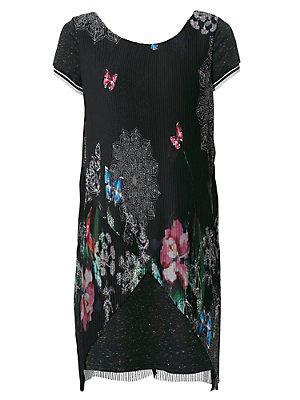 Robe plissée femme Desigual noir