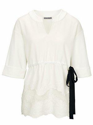 Sweat-shirt femme Ashley Brooke blanc