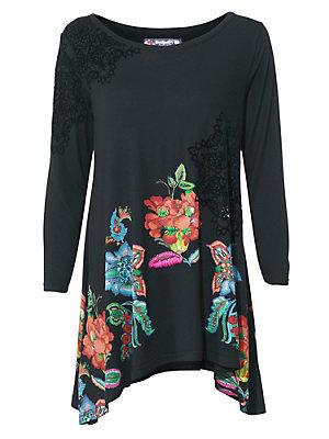 T-shirt à encolure arrondie femme Desigual multicolore