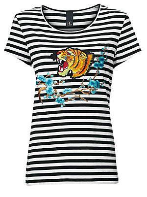 T-shirt à rayures femme B.C. Best Connections noir