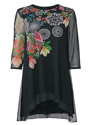 T-shirt long femme Desigual noir