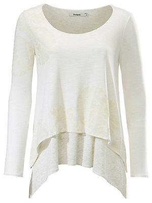 T-shirt long null Desigual blanc