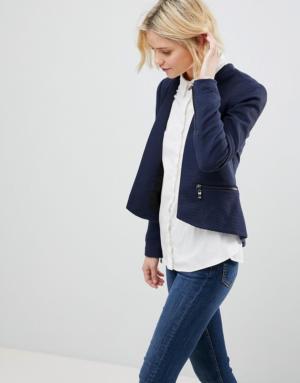 Vero Moda – Blazer sans col – Navy
