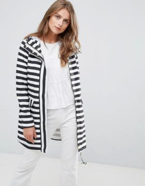 Vero Moda – Imperméable rayé – Blanc