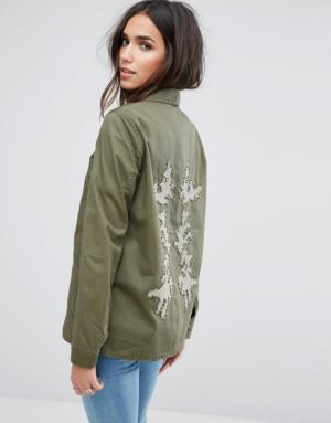 Vero Moda – Veste militaire – Vert
