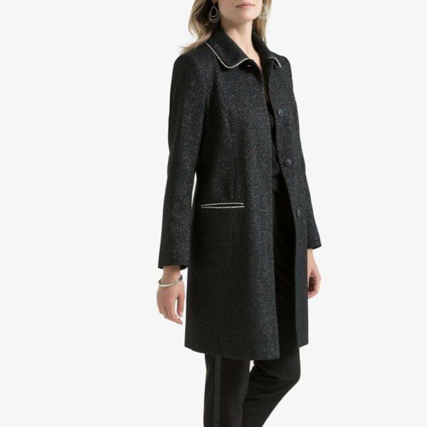 Manteau fibres métallisées