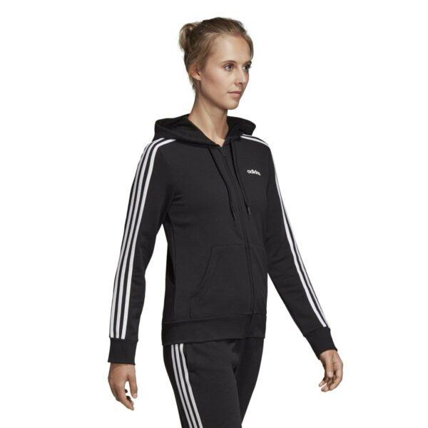 Sweat-shirt Essentials 3-stripes zippé à capuche Noir adidas performance