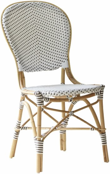 Chaise de bistrot blanche Isabelle - Sika Design