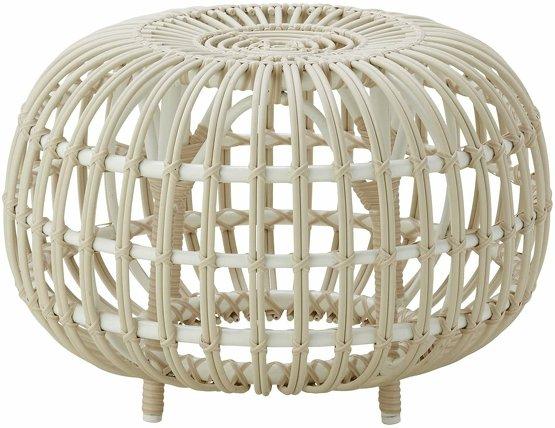 Ottoman en rotin beige 55 cm - Sika Design