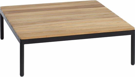 Table basse noire en teck 74x74 Riad - Oasiq