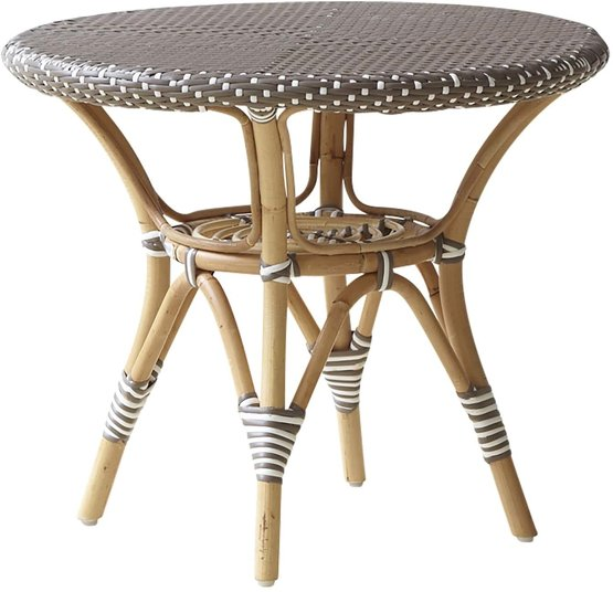 Table basse ronde en rotin marron 60 cm Danielle - Sika Design