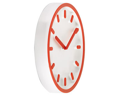 Horloge murale Tempo - Magis orange en matière plastique
