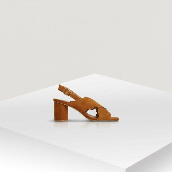 Sandales à talon en cuir Naf Naf