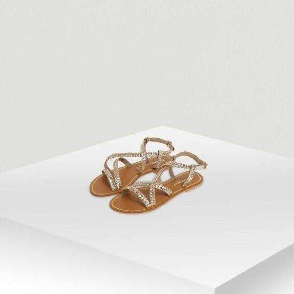 Sandales multi-brides en cuir Naf Naf